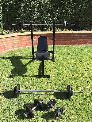 Home Gym Bench Press, Excercise Fitness Weight Station- Collapsible