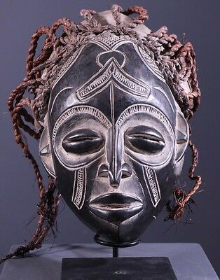 African Art Tchokwe Tribal Mask From Angola