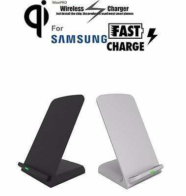 Qi Wireless Fast Charging Charger Stand Samsung Galaxy Note 5 S7 S6 Edge7