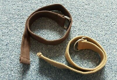 Boys belts x2 brown and sand colour