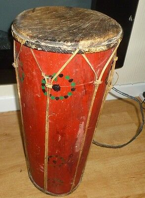 XL Bongo African Style Drum 67cm Tall! Drum On Both Ends Solid Wood FAST POST!
