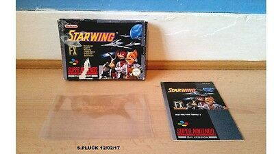 Star Wing SNES Box & Manual Only No Game