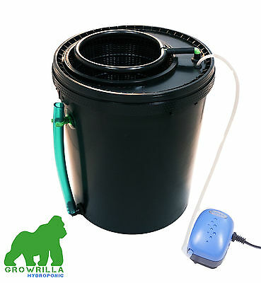 Complete hydroponic recirculating system Growrilla oxy ring 19 liters bucket