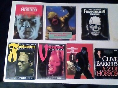 HORROR FILM PAPERBACKS x 7 BOOK LOT