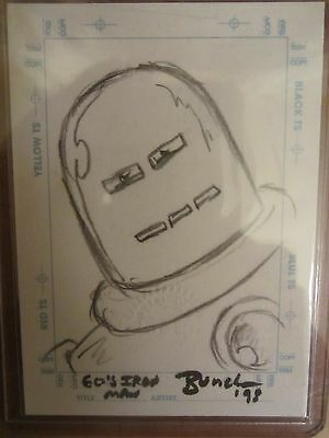 MARVEL - 1998 Collector's Edition IRON MAN Sketchagraph  Stan Bunche