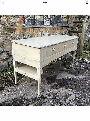 Antique Georgian Painted Spinet Sideboard Cupboard Console
