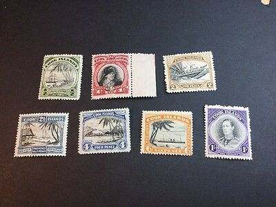 Cook Islands 1944 Short Set LMM (s880)