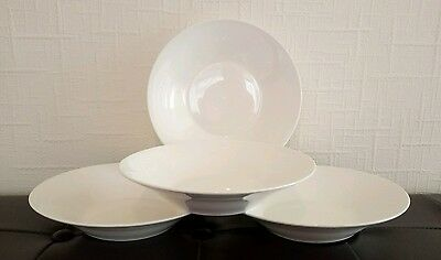 Set of four (4) x brand new white cereal/breakfast/soup bowls