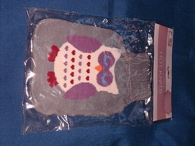 Owl Design Knitted Microwave Heat Pad