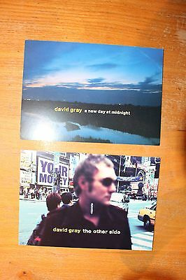 David Gray Promo Postcards (x2) - The Other Side & A New Day At Midnight