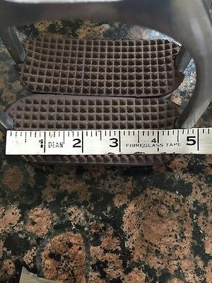 "Metal stirrups 4.5"" With Brown Treads"