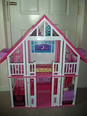 BARBIE large plastic house/ mansion with furniture