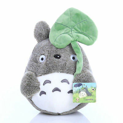 Cute Soft My Neighbor Totoro - Holding Leaf Plush Child Toy Doll Gifts (M) 20cm