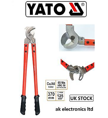Yato Professional Large AL/CU Electrical Wire up o 125mm Cable Cutter 370mm Long