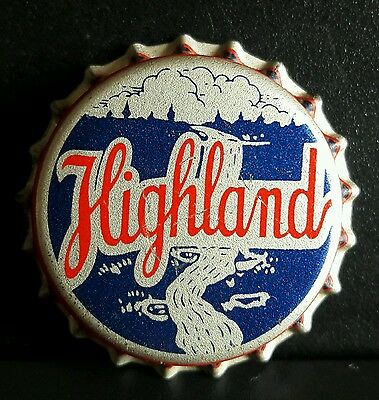 HIGHLAND SPRING WATER CO soda bottle cap unused cork St Paul Minn