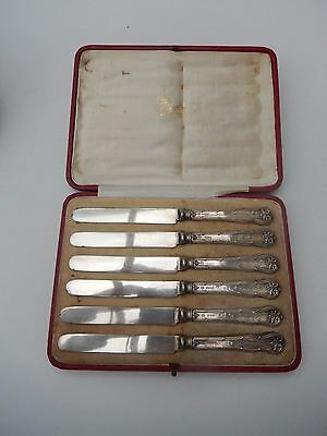 B.W. FASE & Co ANTIQUE VICTORIAN SILVER CAKE KNIVES CUTLERY HALLMARKED WITH CASE