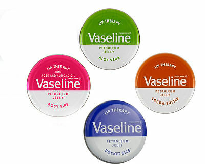 Vaseline Lip Therapy Balm 20g Solid Pot Aloe Vera Petroleum Jelly Pocket Size