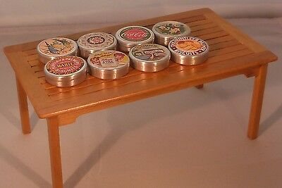dolls house miniature food and drink 1:12th scale biscuit tins