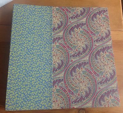 LIBERTY New Collectable Large Photo Book Album 30cm x 31cm Two Liberty Fabrics