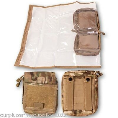Tactical Map Case Pouch Waterproof Cover Mtp Btp Camo Holder Camping Hiking