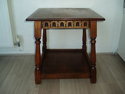 Vintage wooden square side/lamp/coffee table