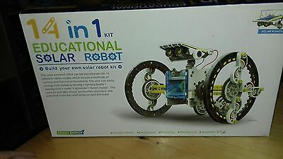 New 14 in 1 Rechargeable Assembly Solar Power Car Robot Kit Kid Educational Toy