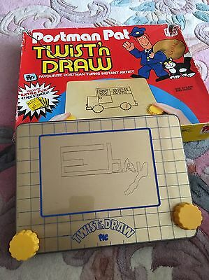 Vintage 1980 Postman Pat Twist And Draw / Etch A Sketch. With Box & Instructions