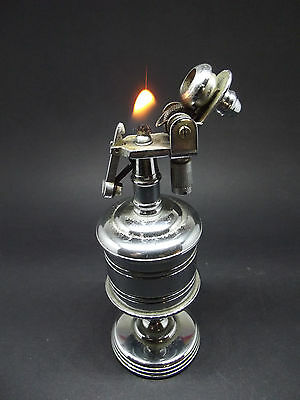 Vintage Semi automatic table petrol lighter
