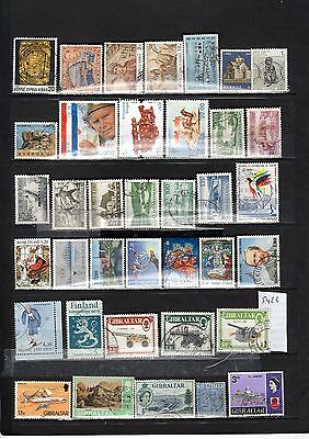 Lot Timbre Europe Chypre Croatie Finlande Gibraltar