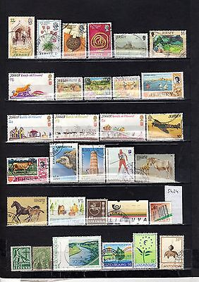 Lot Timbre Europe Jersey Kyrcystan Lettonie Luxembourg