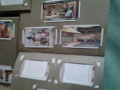 cigarette cards in albums x5