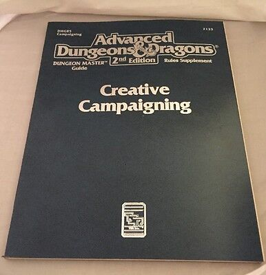 Advanced Dungeons & Dragons Creative Campaigning 2nd Edition. RPG Supplement.