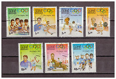 Guinea-Bissau, Olympische Sommerspiele 1932, Los A. MiNr. 690 - 696, 1983 used