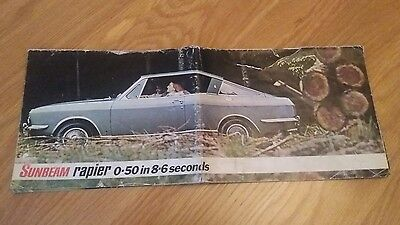 SUNBEAM RAPIER 1970's Car Sales Brochure