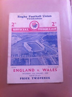 England v Wales 5 Nations 1939