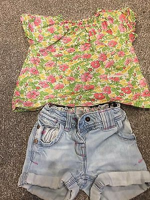 Girls Next Shorts and Blouse Size 1.5- 2years
