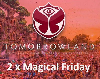 Tomorrowland 2017 - 2x Magical Friday Tickets - Weekend 2 - 28.07.2017