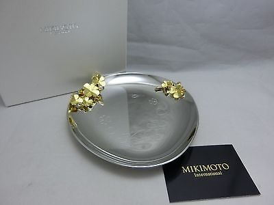 Mikimoto Jewelry Tray with Pearl  4-leaf Clover Motif 100%Authentic!