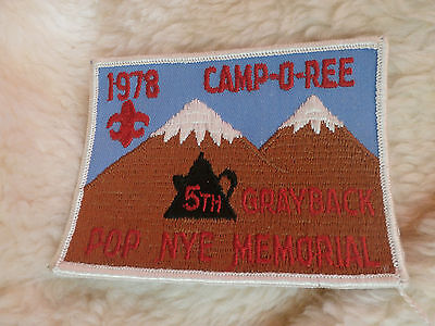 @ Scouts / Guides 1978 Camporee 5Th Grayback Pop Nye Memorial (F)