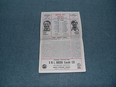 5/12/73 Lincoln City v Chelsea (John Kennedy and George Peden Benefit Match]