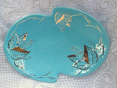 Wade 'Golden Turquoise' England Art Deco Plate (550)