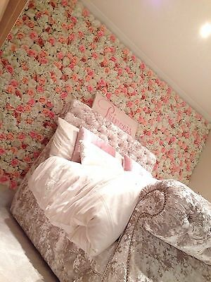 'Nelly' Flower Wall Wedding Backdrop Peony Roses White Blush Pink - UK Supplier