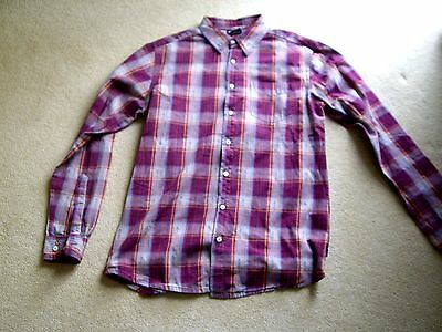 Sherpa Adventure Gear men's long sleeved shirt in red plaid size medium.