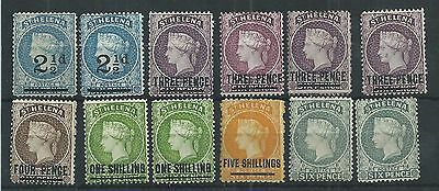 St Helena QV Mint & Used Collection