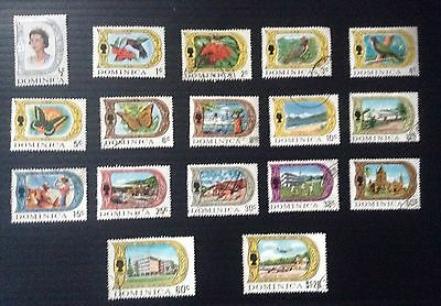 Dominica 1969 QEII part Stamp set to $1.20 SG 272 - 288 M/Mint & Used