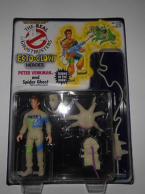 Peter Venkman Ghostbusters Ecto Glow Heroes NEU Unpunched MOC 1991 Kenner Figur