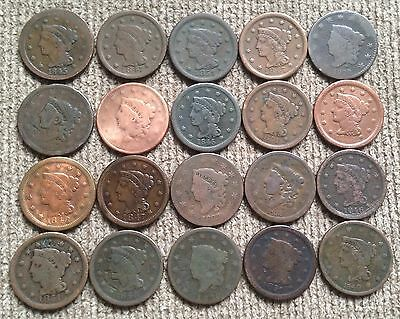 20 low grade Large Cents - Lot 1