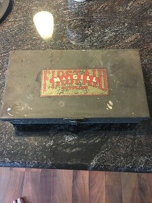 Vintage MacGill First Aid Kit Metal Box With Supplies Made In Chicago
