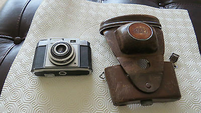 vintage camera zeiss ikon contina in leather case