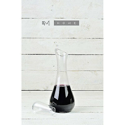 Handmade Mouth Blown Clear Glass Carafe Decanter Wine Brandy Liquor Whiskey 0...